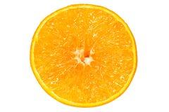 Fresh orange isolated white background Stock Images