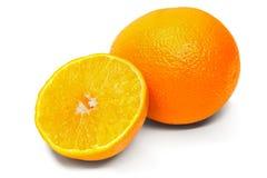 Fresh orange isolated white background Royalty Free Stock Images