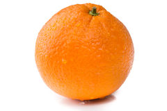 Fresh orange isolated on white Royalty Free Stock Images