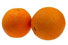 Fresh orange isolated on white Stock Photos