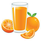 Fresh Orange Juice. Vector illustration showing fresh orange juice Royalty Free Illustration