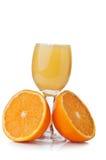 Fresh orange and juice Stock Photo