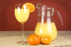 Fresh orange juice Stock Photo