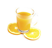 Fresh Orange Juice. Orange juice refers to the juice of oranges. It is made by extraction from the fresh orange royalty free stock images