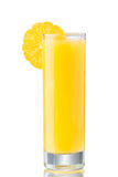Fresh orange juice. In highball glass decorated with neat orange slice with removed peel Royalty Free Stock Photos
