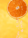 Fresh orange with juice Stock Photography