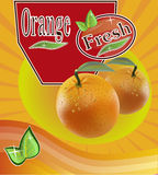 Fresh orange juice Banner Stock Image