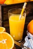 Fresh orange juice Stock Image