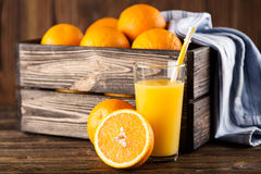 Fresh orange juice Stock Photography