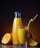 Fresh orange juice and fruit Royalty Free Stock Photo