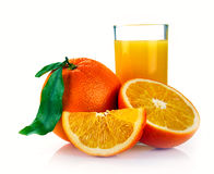Fresh orange juice and fruits Stock Photography