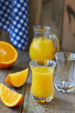 Fresh orange juice Stock Images