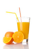 Fresh orange juice in a glass Royalty Free Stock Photos