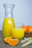 Fresh orange juice in glass Royalty Free Stock Photo