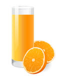 Fresh orange juice in glass Stock Photography