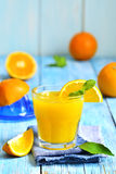 Fresh orange juice in a glass. Royalty Free Stock Images