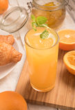 Fresh orange juice in a glass Royalty Free Stock Photography