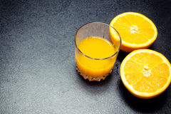 Fresh orange juice. Royalty Free Stock Photo