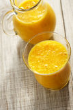 fresh orange juice in glass Stock Photo