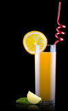 Fresh orange juice in glass with splash Royalty Free Stock Photos