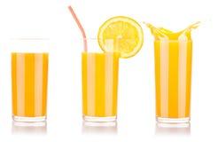 Fresh orange juice in glass with splash Royalty Free Stock Photography