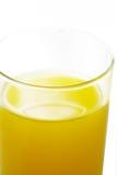 Orange juice. Fresh orange juice in a glass with white background stock photo