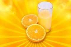Fresh orange juice. A glass of fresh orange juice on a white background Stock Photo