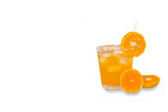 Fresh orange juice isolated on background,clipping path Stock Image