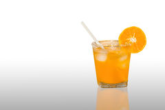 Fresh orange juice isolated on background,clipping path Stock Images