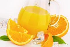 Fresh orange juice. Jug of fresh orange juice - close up Stock Image