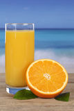 Fresh orange juice and oranges Stock Photo