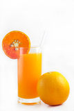 Fresh orange juice. From the orchard ready to eat Stock Photos