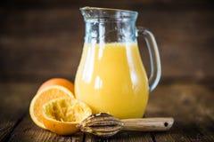 Fresh orange juice in pincher Royalty Free Stock Image