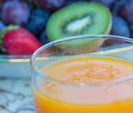 Fresh Orange Juice Represents Kiwi Fruit And Drink Royalty Free Stock Photo