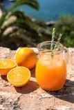 Fresh orange juice summer soft drink concept. Stock Image