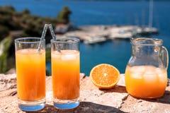 Fresh orange juice summer soft drink concept. Stock Photography