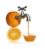 Fresh orange juice,  on white Royalty Free Stock Image