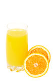 Fresh orange juice on white background Royalty Free Stock Photo
