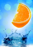 Fresh orange jumping Royalty Free Stock Photos