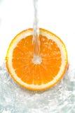 Fresh orange jumping Stock Photography