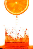 Fresh orange jumping Stock Photo