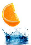 Fresh orange jumping Royalty Free Stock Images