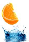 Fresh orange jumping Royalty Free Stock Images