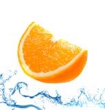 Fresh orange jumping Royalty Free Stock Photo
