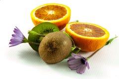 Fresh fruit and flowers Stock Image
