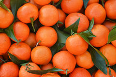 Fresh orange with leaves. Oranges texture and background royalty free stock photography