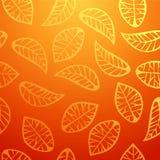 Fresh orange leaves pattern vector illustration