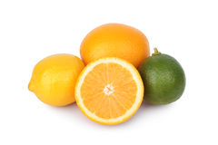 Fresh orange,lemon and citrus fruits Stock Photography