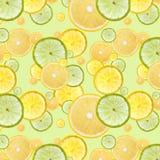 Fresh orange, lemon and lime background Stock Photos
