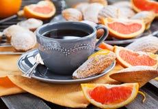 Fresh orange madeleines cookies Stock Image